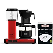 Technivorm Moccamaster KBG Coffee Brewer with number 4 Filter (Red Metallic)