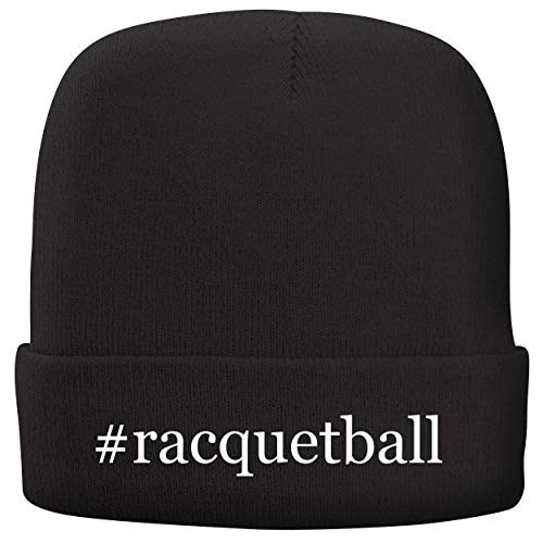 BH Cool Designs #Racquetball - Adult Hashtag Comfortable Fleece Lined Beanie, Black ()