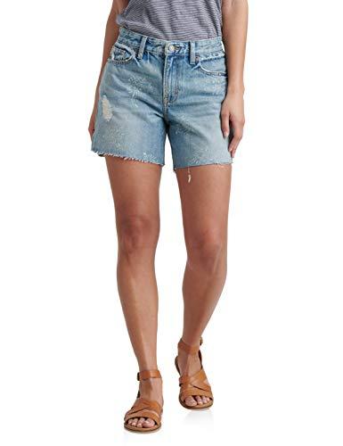 Lucky Brand Women's Mid Rise Boyfriend Short, Indigo Lotus Destruct, 27 (US 4) (Best Denim Jeans Brands)