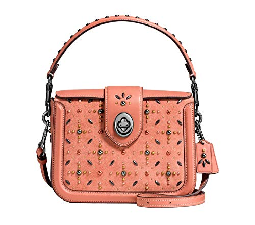 Rivets Prairie Dark Melon Page Crossbody 24075 COACH in Nickel 56XOwqnXdx