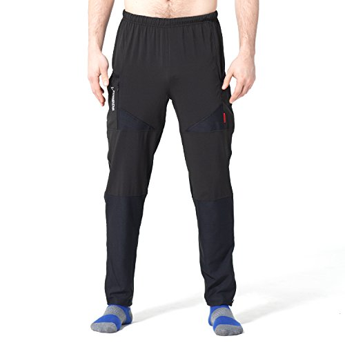 4ucycling Men's Lightweight Breathable Soft Pants S