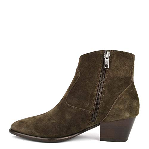 Heidi Ash Green Ankle Suede Military Bis Footwear Boot 6Z8Z1q4