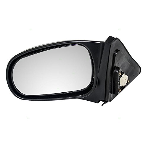 Drivers Power Side View Mirror Textured Replacement for Honda Civic Coupe 76250-S02-A15 ()