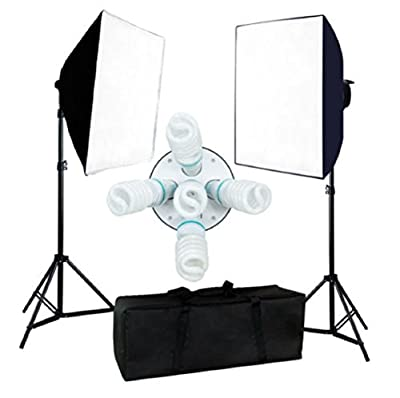 "Photo Studio Video 24"" x 24"" Softbox 2000W Light Stand Photography Continuous Lighting Kit"