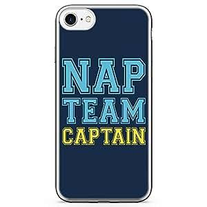 iPhone 7 Transparent Edge Phone Case Nap Team Phone Case Funny Phone Case Nap Phone Case Nap Time
