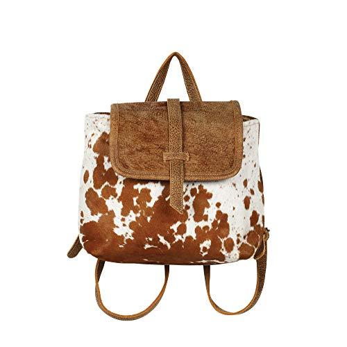 Myra Bag Leather Flap Cowhide Backpack S-1216 (Cowhide Flap)