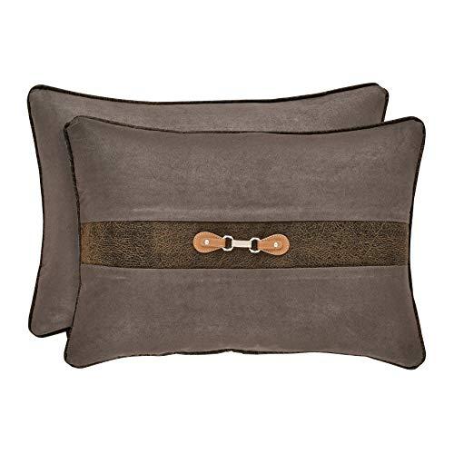 Five Queens Court Jamison Lodge Boudoir Decorative Throw Pillow, Grey, 21x14 (Jamison Pillows)