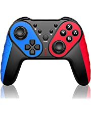 JACKiSS PRO Wireless Pro Controller for Switch Controllers,Pro Controller Compatible with Switch/Switch Lite, Remote Control for Switch Controller Wireless With Turbo/Motion Control/Vibration-Blue/Red photo