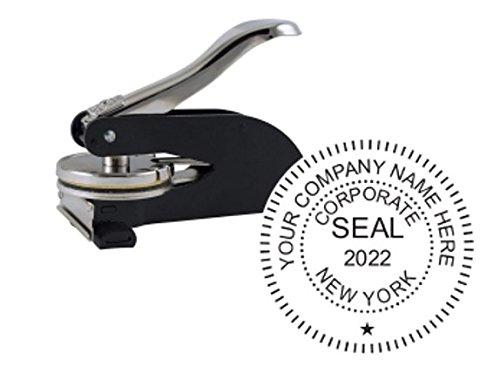 (New York Corporate Seal, Desk Model, 1-5/8