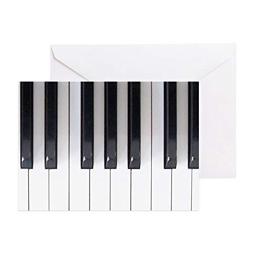 CafePress Piano Keyboard 5 Greeting Card, Note Card, Birthday Card, Blank Inside ()