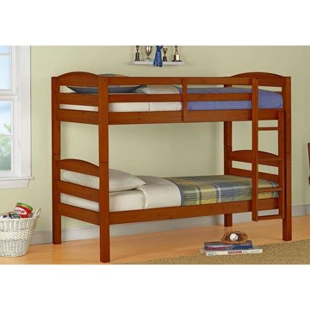 Twin Bed Frame Twin Over Twin Wood Bunk Bed Double Deck