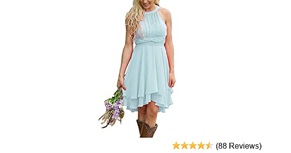 6b76bcf7f6e Meledy Women s Knee Length Country Bridesmaid Dress Western Wedding Guest  Dress at Amazon Women s Clothing store