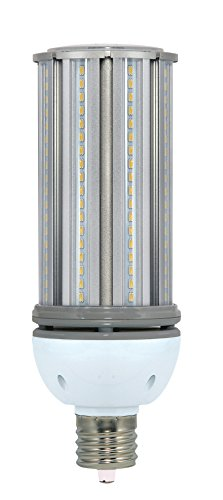 ((6-Pack) Satco S9394 - 54W/LED/HID/5000K/100-277V 54W 5000K Mogul Extended EX39 Base 250W HID Replacement LED Light Bulb)