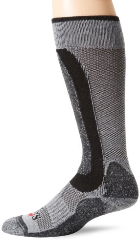 Hot Chillys Women's Alpaca Med Cush Sock,Black/Grey,Medium