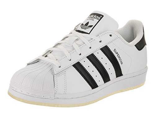 Adidas Boys' Grade School Superstar Casual Shoes B42369 (4 M US Big Kid) White/Black/White by adidas Originals
