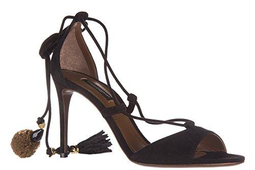 amp;Gabbana negro de en tacón mujer Dolce sandalias ante nuevo fgwqAAnZ