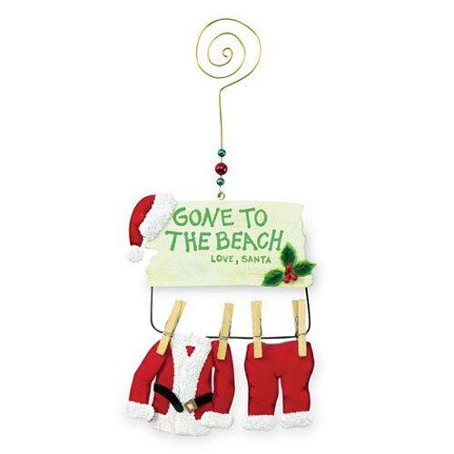 Santa Claus Gone to the Beach Christmas Ornament