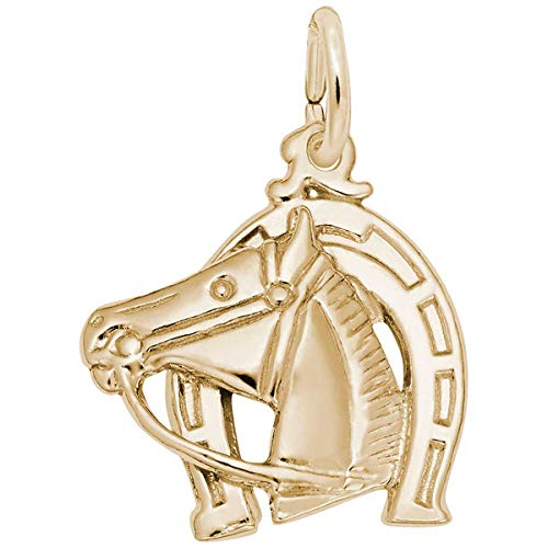 (Rembrandt Charms Horse Charm, Gold Plated Silver)