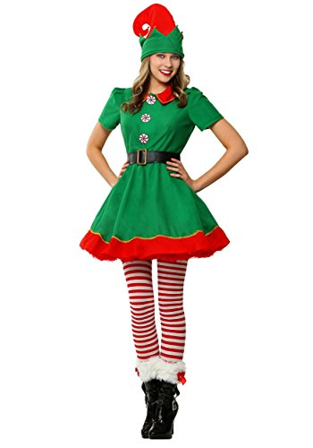 Adult Holiday Elf Costumes (Womens Holiday Elf Plus Size Costume 3X)