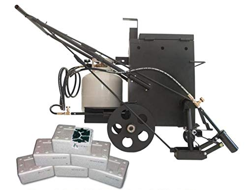 Hotbox 10 Crack Filling Machine Mobile hot Rubberized Asphalt Melter Kettle (Hotbox 10 Dual Torch + 6X crackfiller Combo)