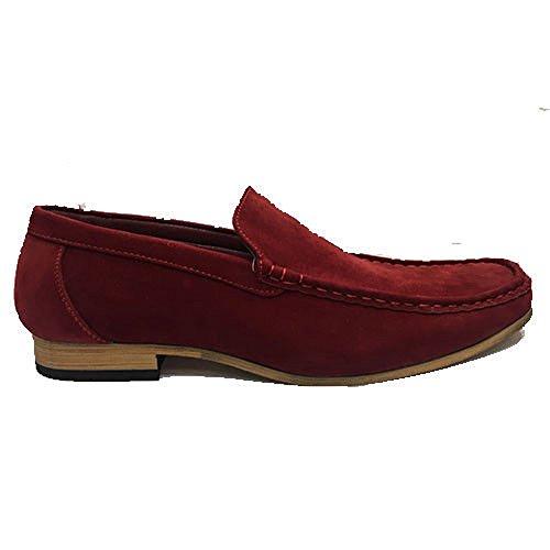 london fashion Mocassini Uomo, Rosso (Red), 40