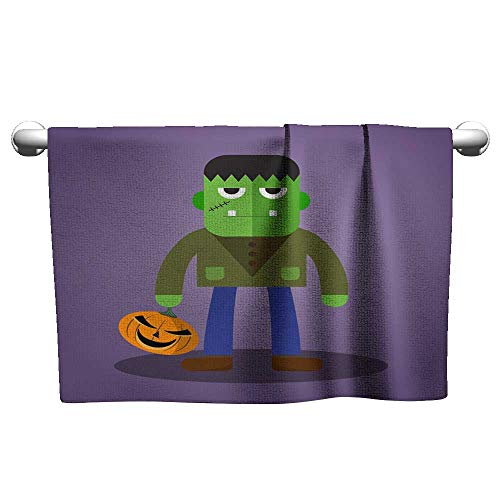 Gym Towels for Women Frankenstein Cute Halloween Character a Towel Bath Towels 10 x 40 Inch]()