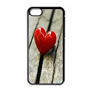 IPhone 5C Case, One Heart Case for IPhone 5C {Black}