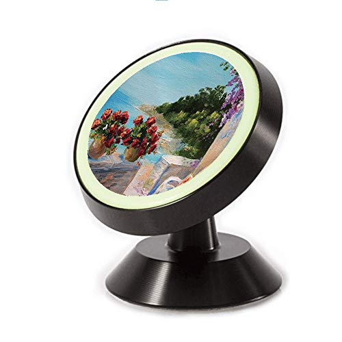 Magnetic Dashboard Cell Phone Car Mount Holder,Cosy Rocking Chair Flowers in Summer Sky Oil,can be Adjusted 360 Degrees to Rotate,Phone Holder Compatible All Smartphones