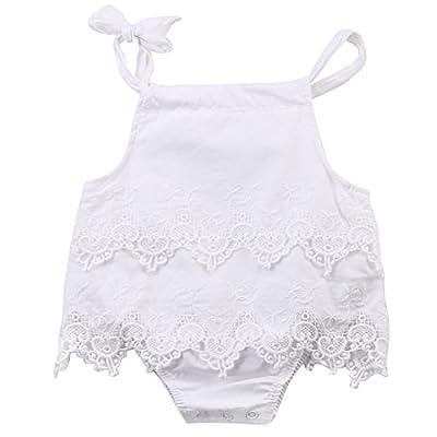 Newborn Baby Girl Infant Romper Jumpsuit Bodysuit Tutu Lace Dress Clothes Outfit