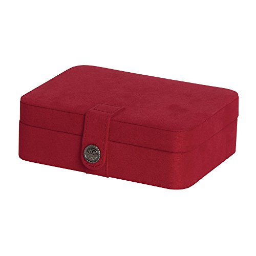 Mele & Co. Giana Plush Fabric Jewelry Box with Lift Out Tray - Mela Satin
