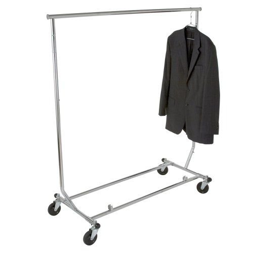 Only Garment Racks True Commercial Grade Rolling Racks Designed with Solid ''One Piece'' Top Rails (Economically Sold in a Set of 2 Racks)