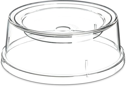 Carlisle 196007 Polycarbonate Plate and Bowl Cover, 9 x 3-13/32'', Clear (Case of 12) by Carlisle