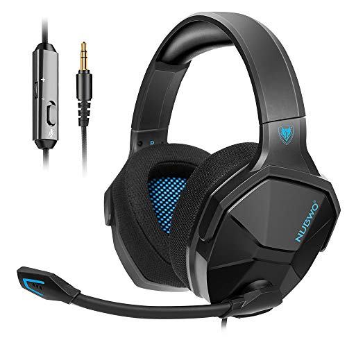 NUBWO PS4 Headset, Stereo Surround Sound Gaming Headset, Xbox One Headset with Noise Cancelling Mic Compatible with PC…