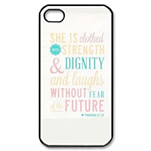 iphone covers fashion case Bible Verse - She is Clothed with Strength & Dignity She Laughs without Fear of r59enZ1X33a the Future Proverbs 31:25 picture for black plastic Iphone 6 4.7 case cover