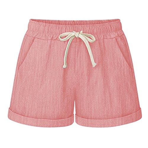 Corti Donna Pantaloni Guiran Shorts Spiaggia Pantaloncini Pantaloncini Casuali Pink PtxAIA