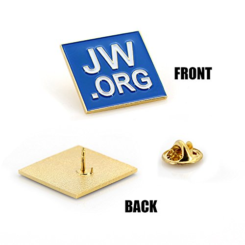 JW ORG Square Gold Lapel Pin Jehovah Witness - 1