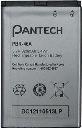 Quaroth - Pantech DC12110513LP Lithium Ion Battery for Pantech PBR-46A/Breeze II - Original OEM - Non-Retail Packaging - Battery Iii Pantech Breeze