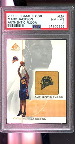 - 2000-01 2001 Upper Deck SP Authentic Floor Marc Jackson Game Used Floor Card - PSA/DNA Certified - Basketball Game Used Cards