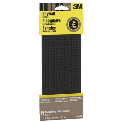 3M 9089NA Drywall Sanding Screen, 4 3/16in x 11 1/4 in, 2-Sheet Fine-Grit