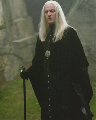 Harry Potter Jason Isaacs as Lucius Malfoy Walking Outside with Cane 8 x 10 Photo