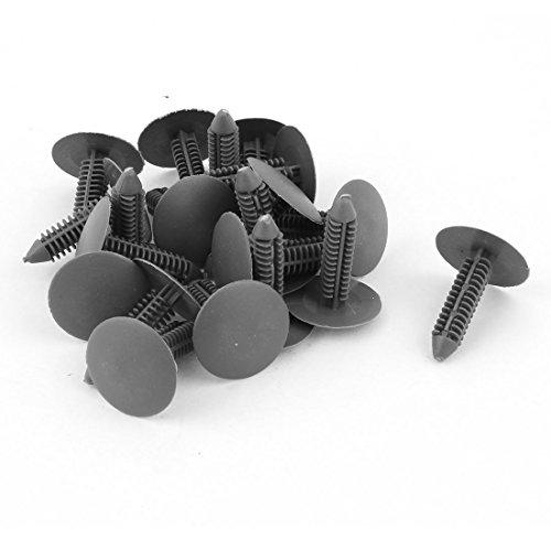 uxcell Car Auto Parts Plastic Push Screw Rivet Panel Fixings Clips Gray 20Pcs
