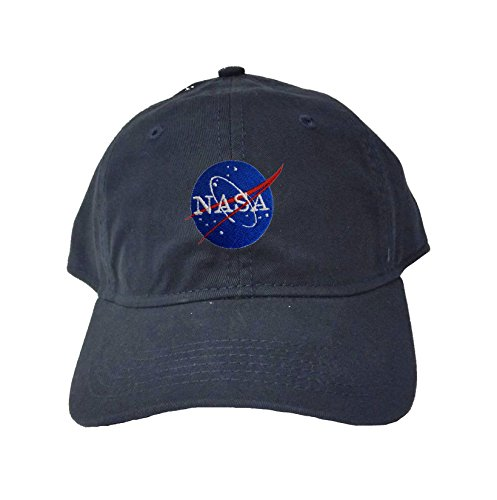Navy Insignia Cap (Go All Out Screenprinting Adjustable Navy Adult NASA Insignia Logo Embroidered Deluxe Dad Hat)