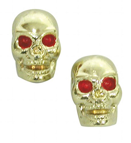 TRICK TOPS Skull Valve Caps, Gold by TRICK TOPS