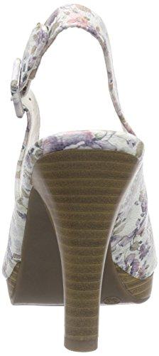 Jane Klain296 147 - Sandalias de Talón Abierto Mujer Varios Colores - Mehrfarbig (Grey Multi 299)