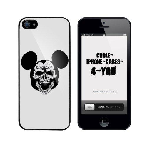 Iphone 5 / 5S Schutzhülle Monster Mouse - schwarzer Rahmen
