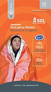Adventure Medical Kits Sol Emergency Blanket, One Person, 2.9 Ozs. (Pack Of 2)