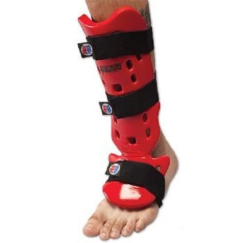 Wingsmarketshop Proforce Karate / Taekwondo Shin Guards Ankle Brace Support Pad Foot Protector Kickboxing Taekwondo Foot Gear Martial Arts Protector Sparring Gear Foot Support Socks - Red (L) NEW! - Dragon Ninja Kama