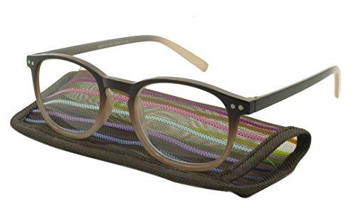 UrbanSpecs SI25-Brn-1.25 Reading Glasses + - Urbanspecs Sunglasses