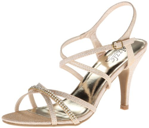Sizzle by Coloriffics Women's Shelly Dress Sandal,Nude,9.5 M -
