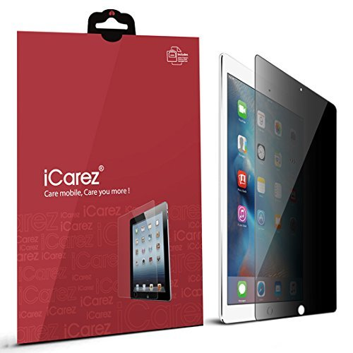 iCarez [4 Way Privacy] Screen Protector for iPad Mini 4 [ Unique Hinge Install Method with Kits ] Easy Install with Lifetime Replacement Warranty - Retail Packaging
